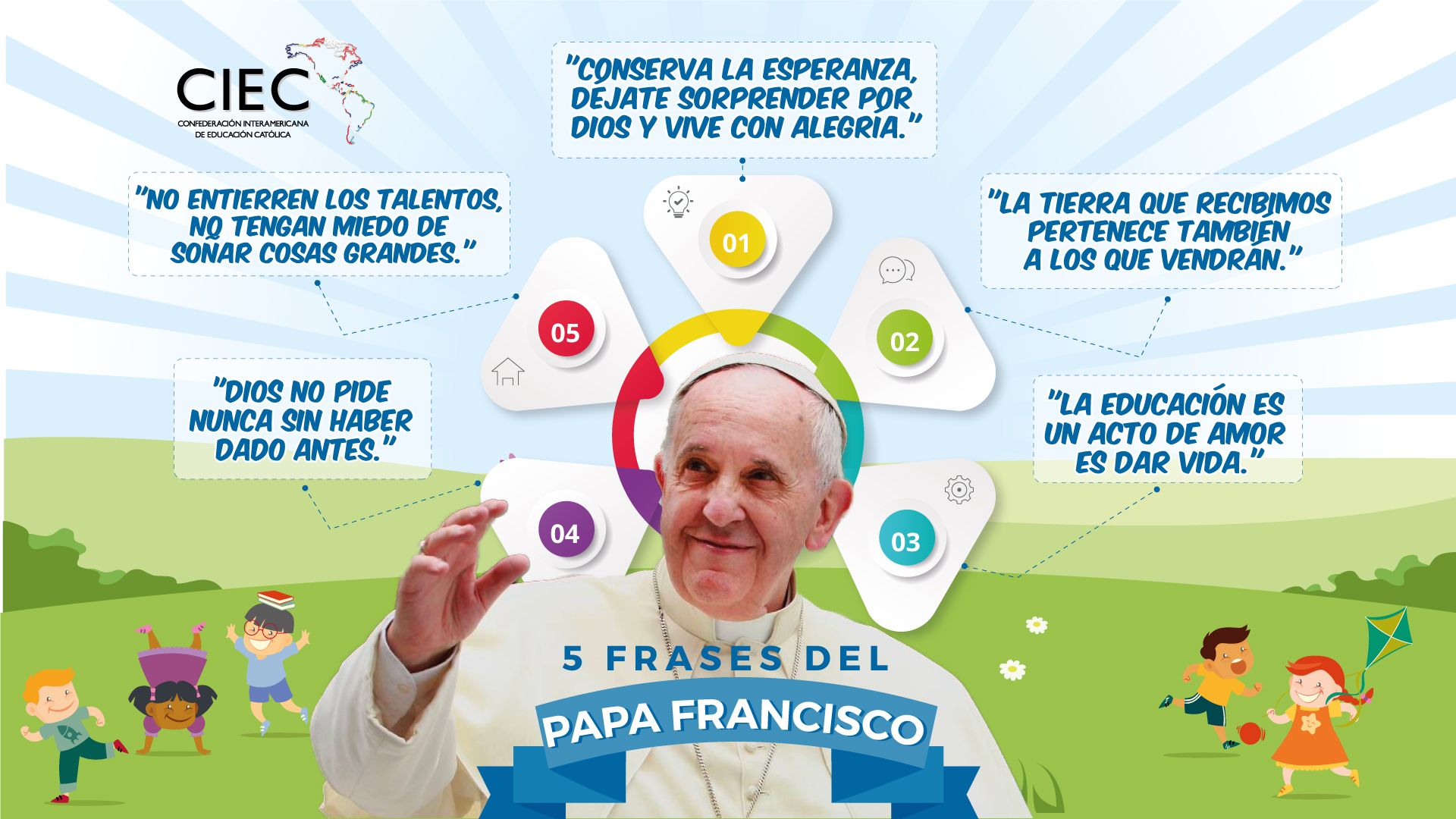 41 Cinco Frases Del Papa Francisco Ciec